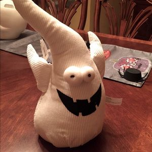 Plush corduroy ghost door stop